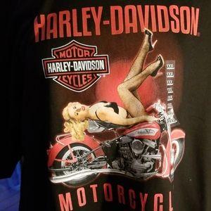 Harley Davidson Pin Up Girl Men's T-Shirt